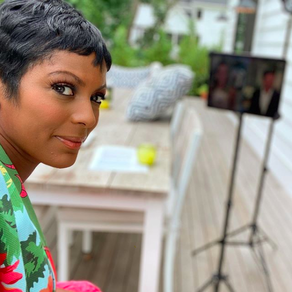 Tamron Hall is on set at home and ready to go!