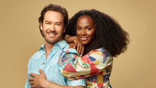 "ABC's ""mixed-ish"" stars Mark-Paul Gosselaar as Paul Johnson, and Tika Sumpter as Alicia Johnson."