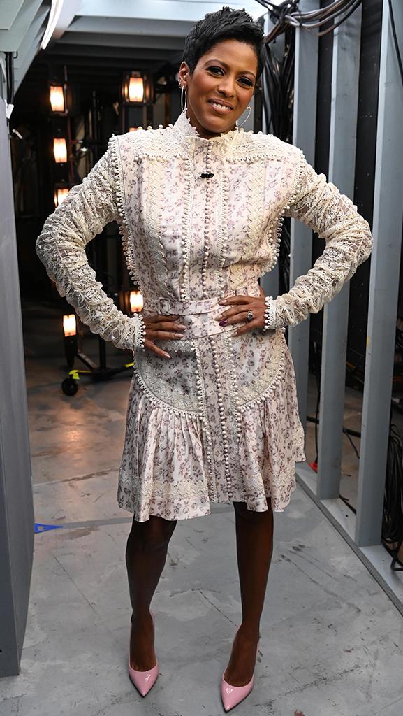 Dress by Zimmermann // Shoes by Gianvito Rossi // Earrings by Jennifer Miller