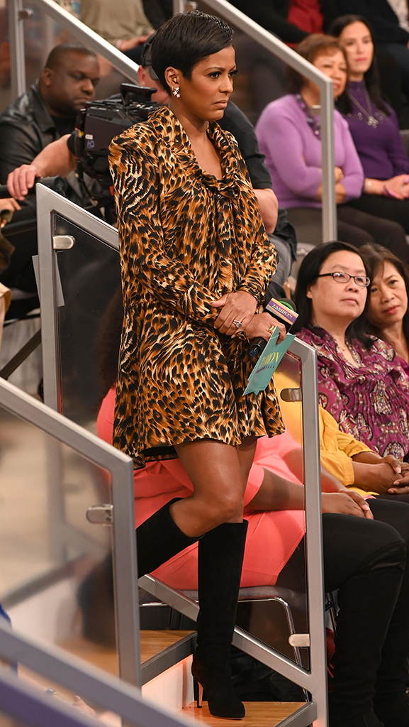 Leopard Print Dress by Saint Laurent // Black Suede Boots by Gianvito Rossi // Jewelry by Jennifer Miller