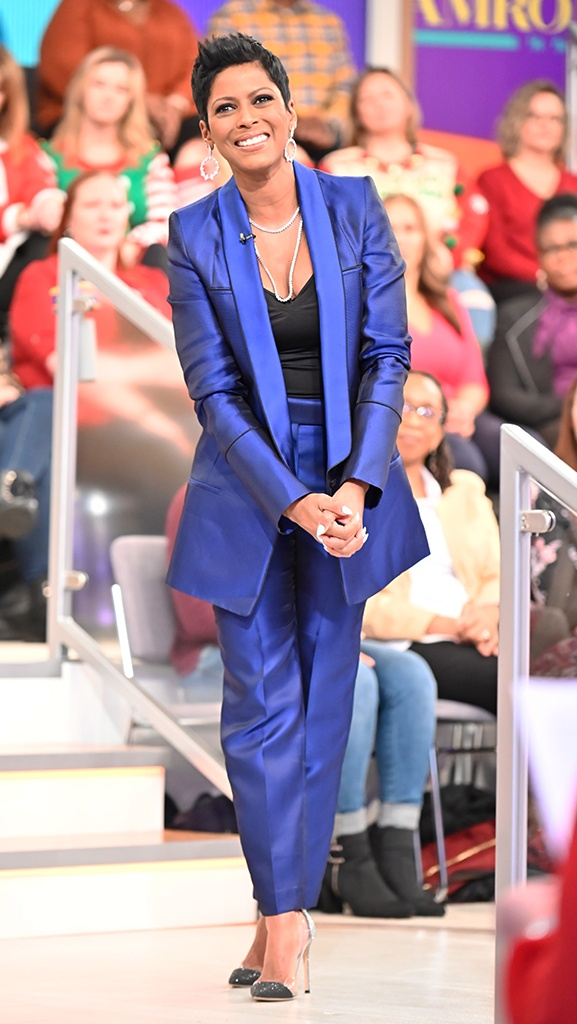 Navy Suit by Haider Ackermann // Jewelry by Jennifer Miller // Shoes by Gianvito Rossi