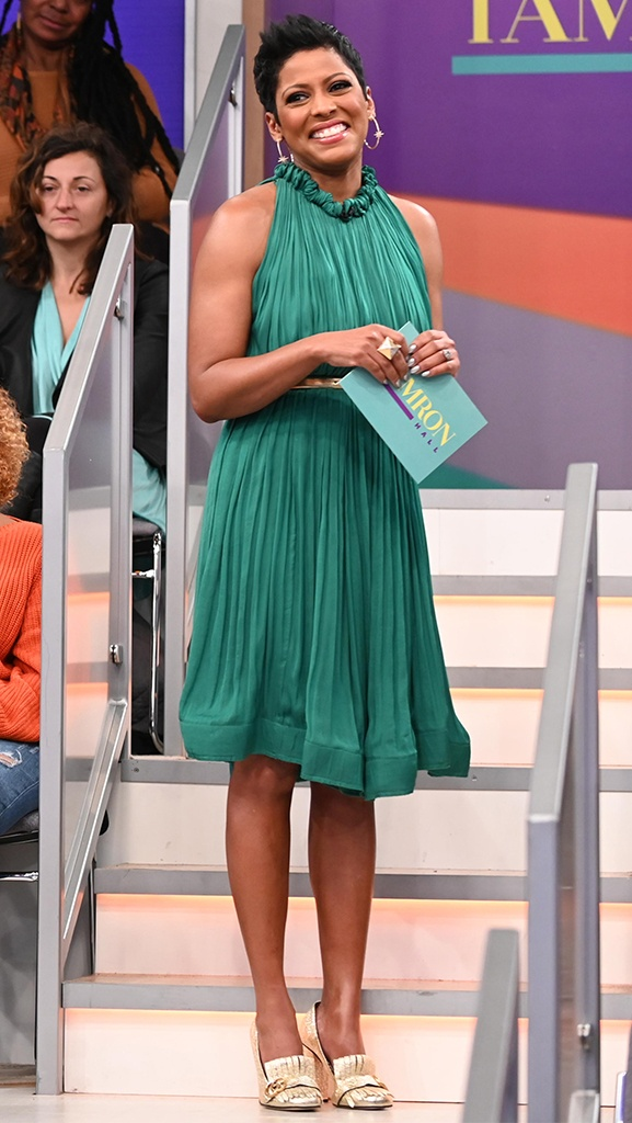 Green Halter Dress by Lanvin // Shoes by Gucci // Jewelry by Dazzle // Belt by Michael Kors