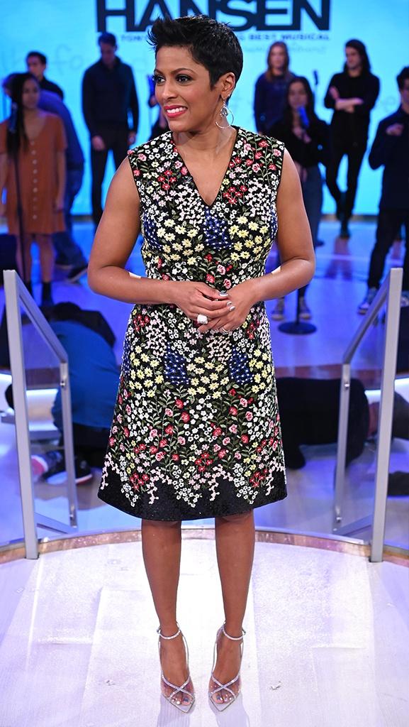 Dress by Giambattista Valli // Shoes by Gianvito Rossi // Earrings by Jennifer Miller
