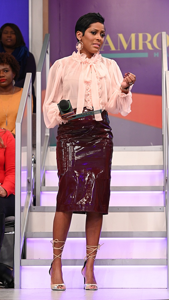Ruffle Blouse by Dolce & Gabbana // Patenet Leather Skirt by Wanda Nylon // Shoes by Pierre Hardy // Earrings by Dazzle Jewelry