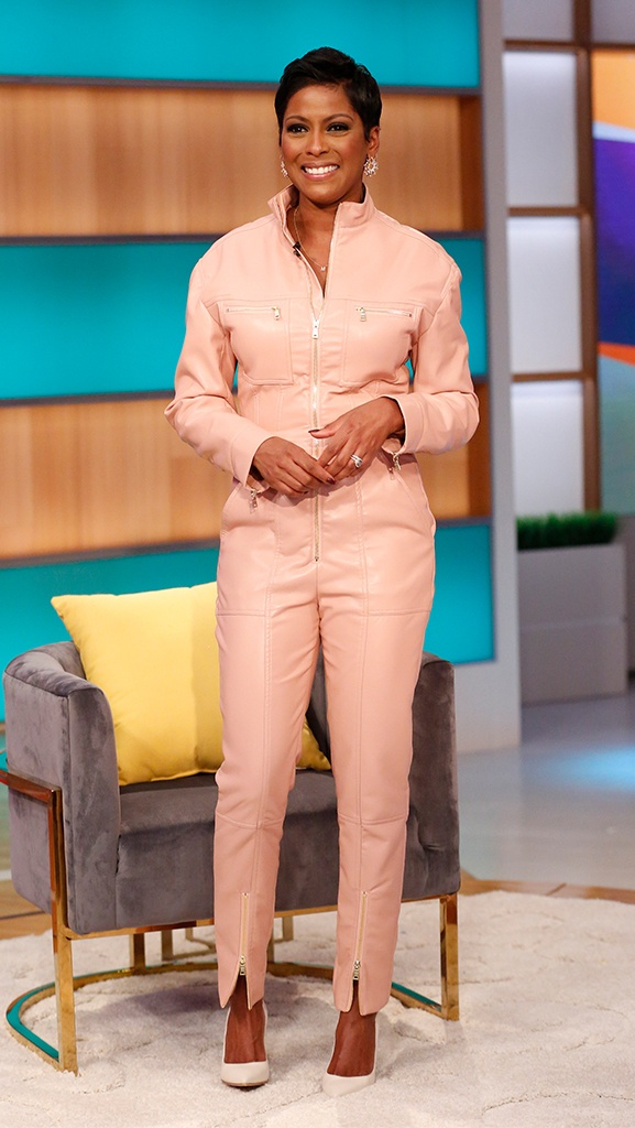 Pink Jumpsuit by Jonathan Simkhai // Shoes by Gianvito Rossi // Jewelry by Dazzle