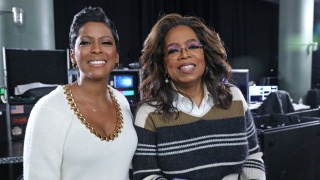 Tamron Hall and Oprah Winfrey
