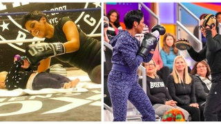 Tamron Hall boxing