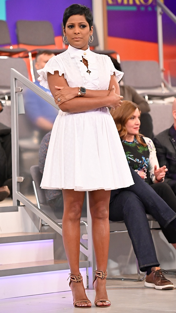 White Dress by Louis Vuitton // Shoes by Gianvito Rossi // Earrings by Dazzle