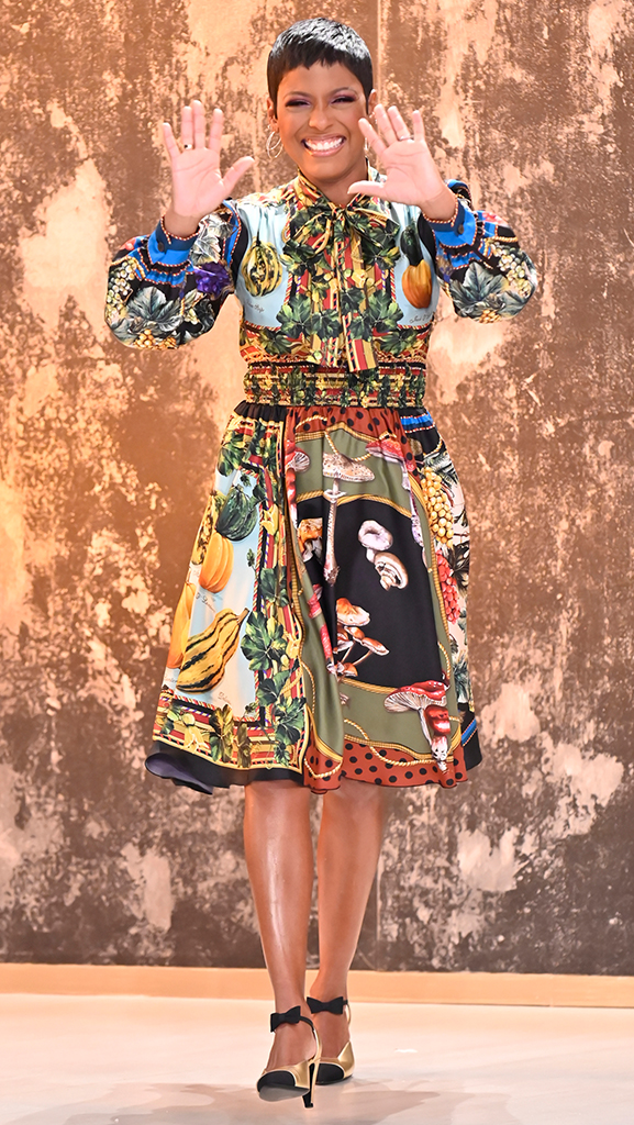 Dress by Dolce & Gabbana // Shoes by Chanel // Earrings by Jennifer Miller