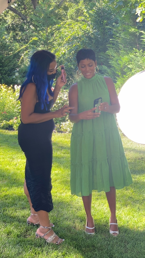 Tamron Hall with make-up artist, Tenelle Veira