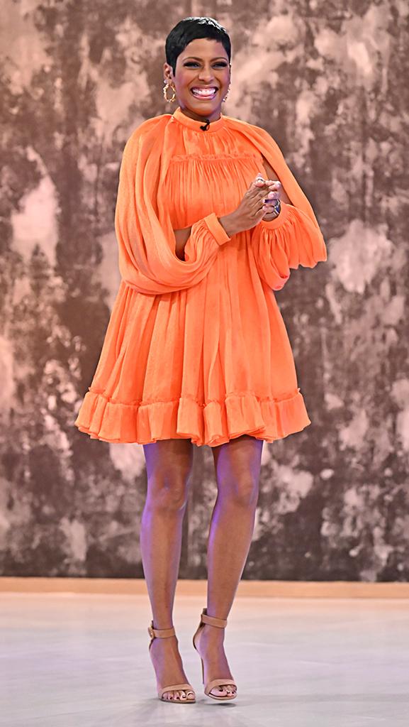 Dress by Carolina Herrera // Shoes by Gianvito Rossi // Earrings by Erickson Beamon