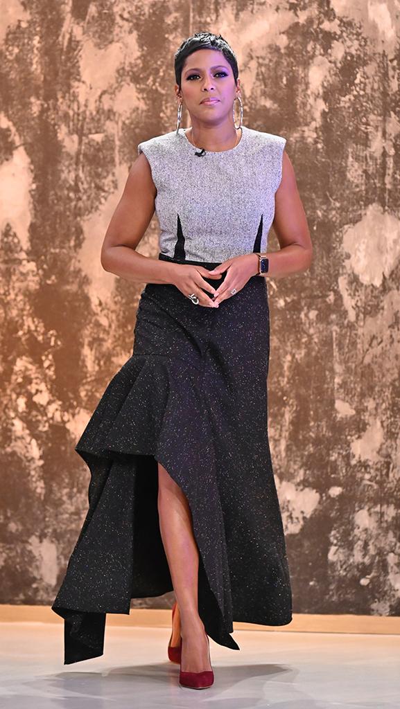 Dress by Alexander McQueen // Shoes by Sarah Flint // Earrings by Jennifer Fisher