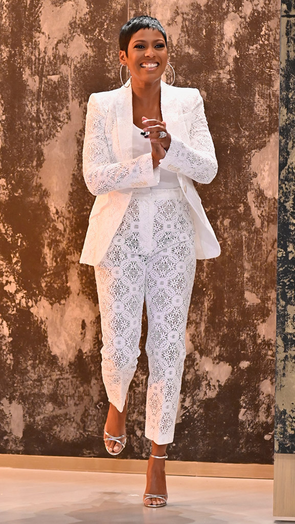 White Lace Suit by Alexander McQueen // White Tank by James Perse // Shoes by Gianvito Rossi // Earrings by Dazzle Jewelry