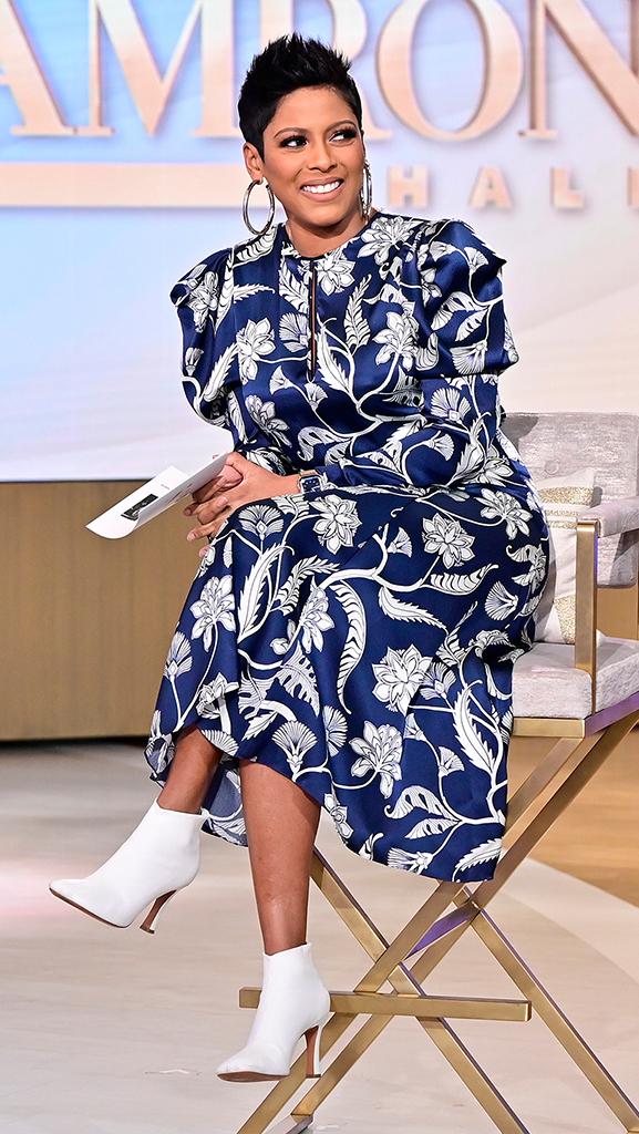 Dress by Joanna Ortiz // Earrings by Jennifer Fisher // Boots by Celine