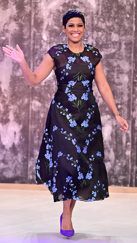 Dress by Lela Rose // Shoes by Calvin Klein // Earrings by Alison Lou