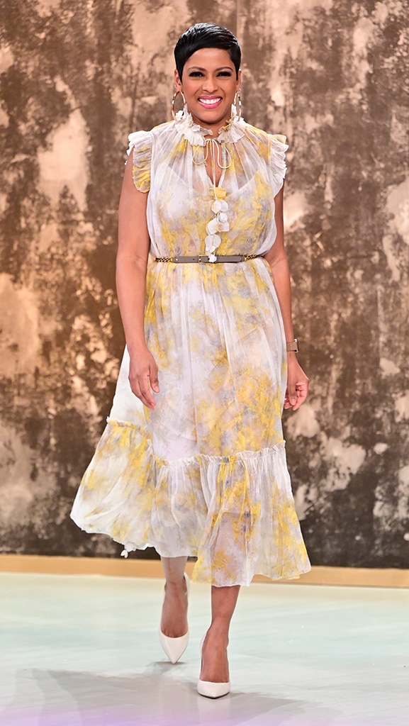 Dress by Zimmerman // Earrings by Jennifer Miller