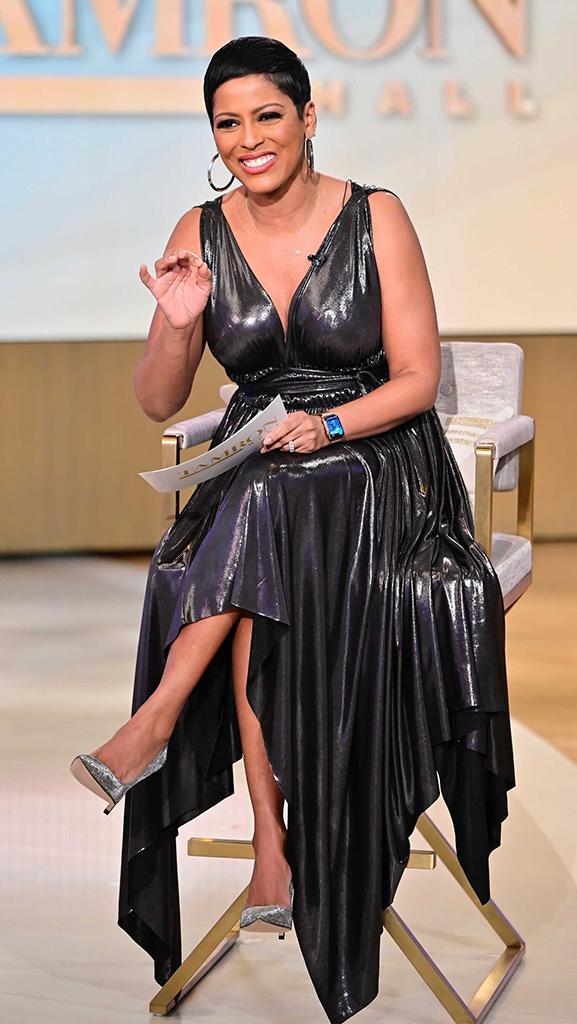 Dress by Norma Kamali // Shoes by AERA // Jewelry by Jennifer Miller