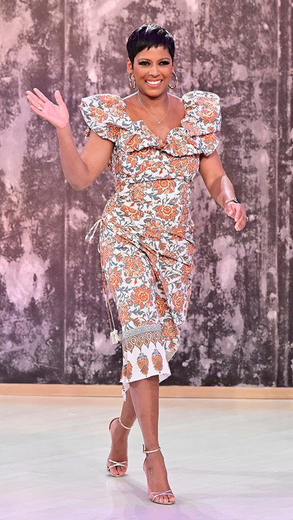 Dress by Johanna Ortiz // Shoes by Gianvito Rossi // Earrings by Jennifer Miller