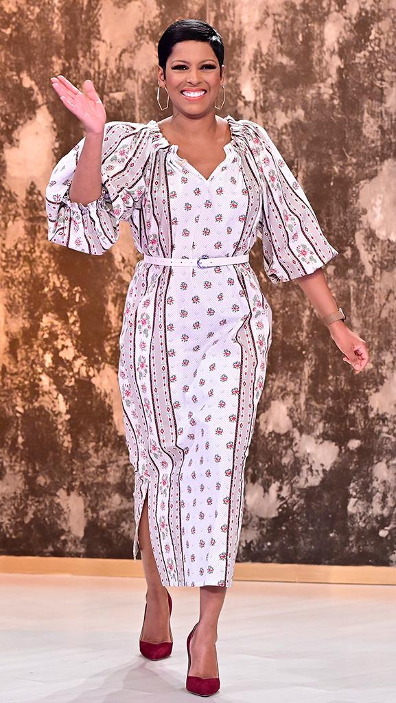 Dress by Johanna Ortiz // Shoes by Sarah Flint // Earrings by Jennifer Fisher