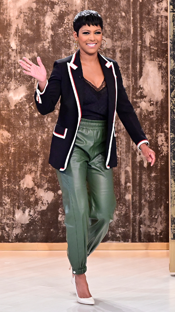 Jacket and Camisole by Gucci // Pant by Alexander McQueen // Shoes by Gianvito Rossi // Earrings by Jennifer Fisher