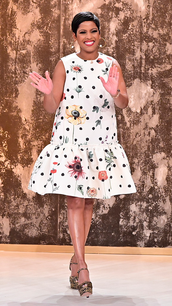Dress by Oscar de la Renta // Earrings by Jennifer Miller